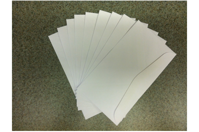 Envelopes - 50 cents for 10